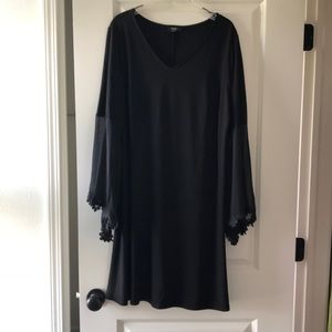 Jersey Knit dress with bell sleeves